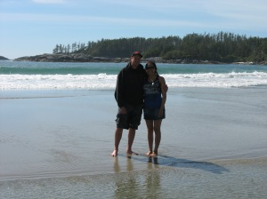 Charito & Ian at West Beach Pruth Bay Calvert Island