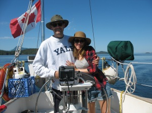Stuart and Kyla at the helm!