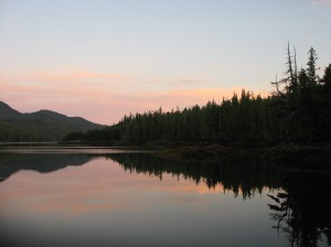 Solitude at dusk in Chapple Inlet